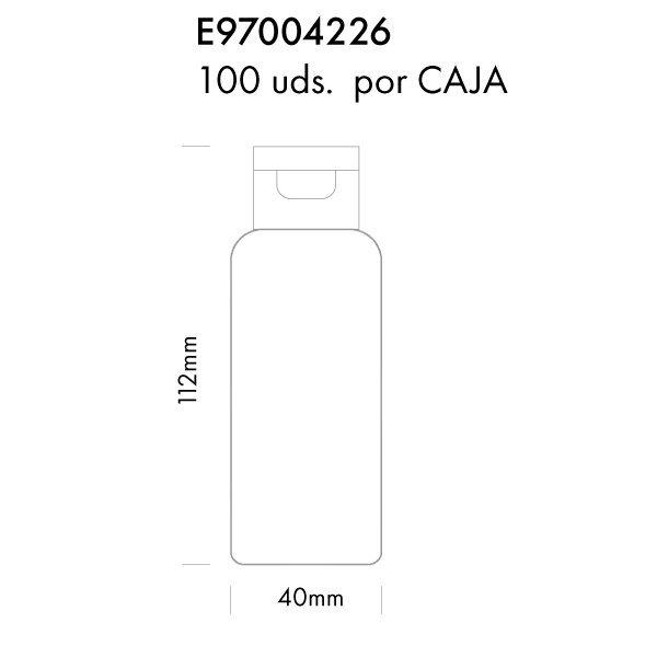Gel hidroalcohólico Botella Tapón Dosificador 100ml Medidas SMK