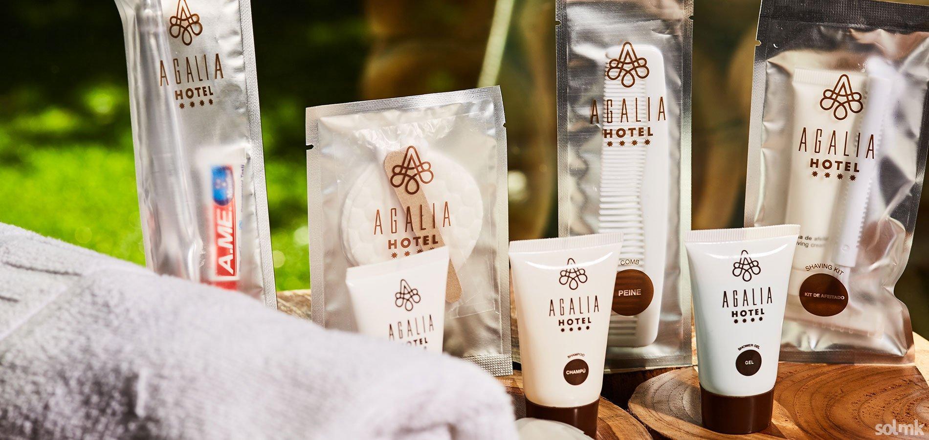 Colección Amenities personalizados para Hotel Agalia
