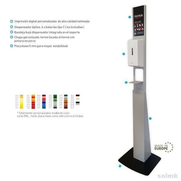 Soporte pie dispensador gel hidroalcohólico Mod.ECO SMK