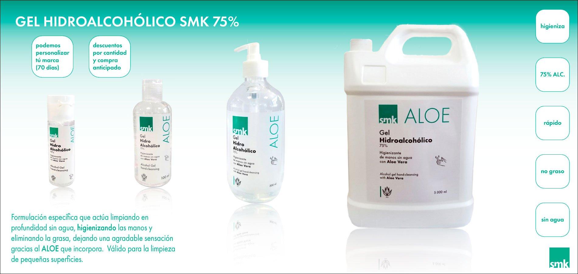 Colección de Geles Hidroalcoholicos SMK